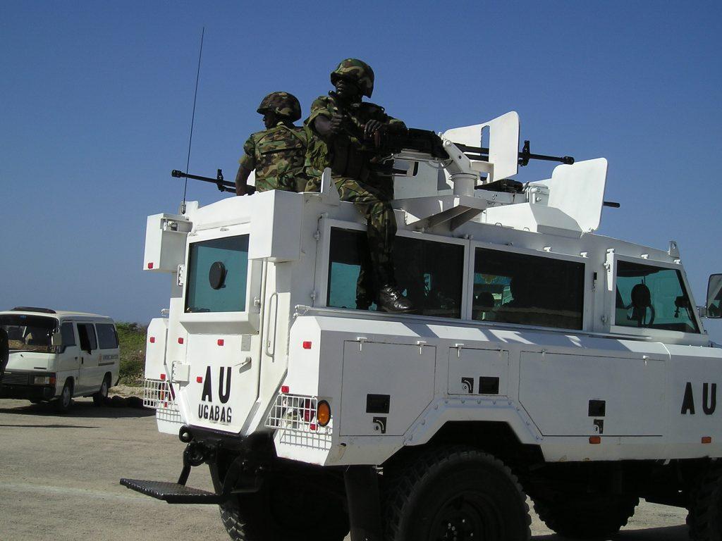 Ugandan AU Peacekeepers in Mogadishu